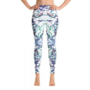 workout pants: blue electric