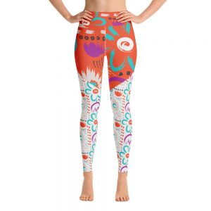 yoga leggings flower