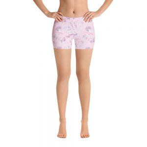 yoga shorts floral