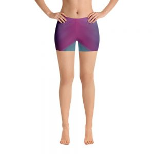 yoga shorts oil slick